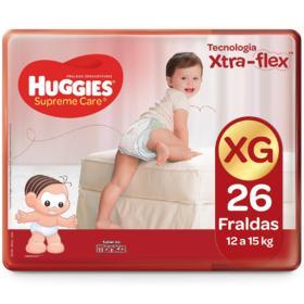 Fralda Huggies Supreme Care - XG | 26 unidades