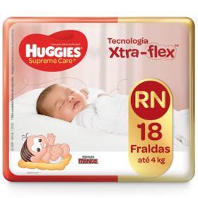 Fralda Huggies Supreme Care - RN | 18 unidades