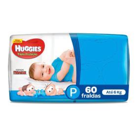 Fralda Huggies Tripla Proteção - P | 60 unidades
