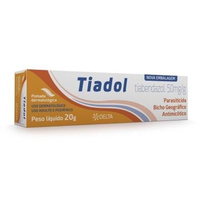 Tiadol Pomada - 50mg/g, caixa com 1 bisnaga com 20g de pomada de uso dermatológico