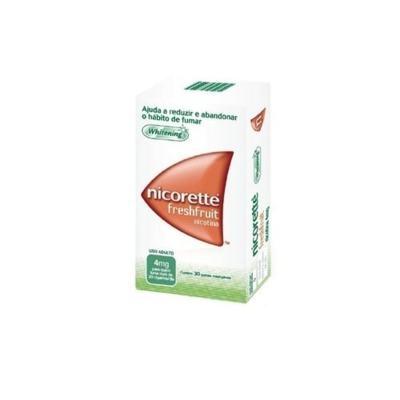 Nicorette Goma Fresh Fruit - 4mg   30 tabletes mastigáveis