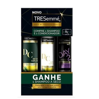 Kit Shampoo Tresemme Detox Capilar + Condicionador 200ml Ganhe Shampoo A Seco 75ml 675ml - Purifica e Nutre | 675ml