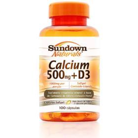 Calcium + D3 Sundown Naturals Softgel - 500mg | 100 cápsulas
