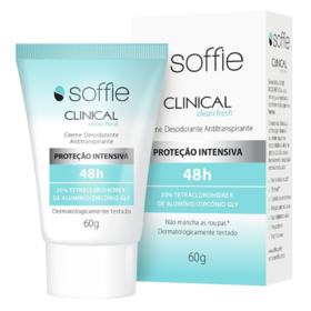 Desodorante Antitranspirante Creme Soffie Clinical - Clean Fresh   60g
