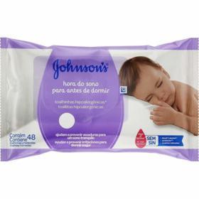 Toalhas Umedecidas Johnson's Baby - Hora Do Sono | 48 unidades