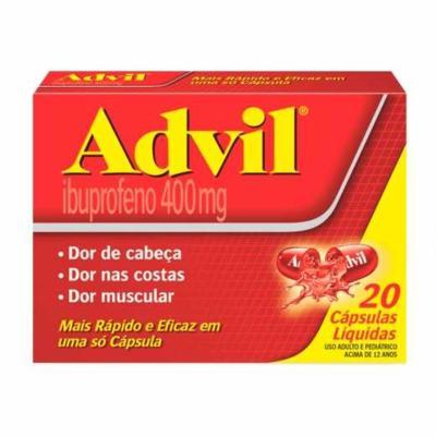 Advil Extra Alívio - 400mg | 20 cápsulas
