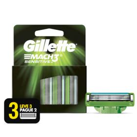 Carga Para Aparelho de Barbear Gillette - Mach3 Sensitive | 3 unidades | Leve 3 Pague 2