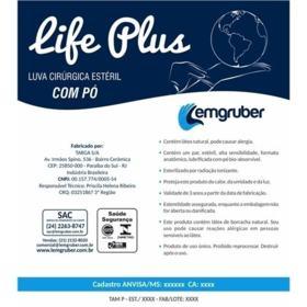 Luva Cirurgica Estéril Life Plus Lemgruber 7,0 - 1 Par