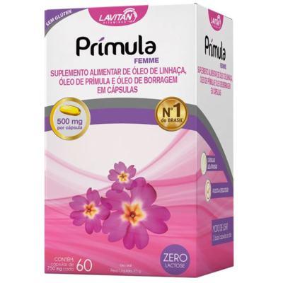 Prímula Femme - 750mg | caixa com 60 cápsulas