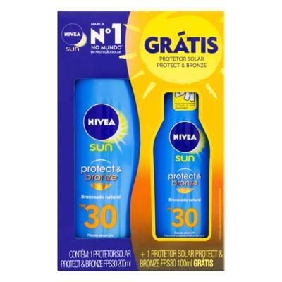 Kit Protetor Solar Nivea Sun Protect & Bronze - FPS 30 | 2 unidades