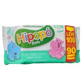 Toalhas Umedecidas Hipopó Baby - 100 unidades   leve 100 pague 90