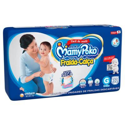 Fralda Calça Mamypoko - Tamanho G | pacote com 32 unidades