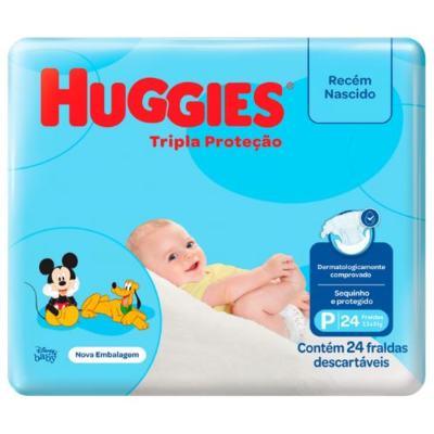 Fralda Huggies Tripla Proteção Jumbinho - P | 24 unidades
