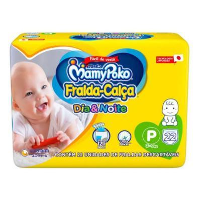 Fralda Calça Mamypoko - Dia e Noite P,   22 unidades