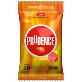 Preservativo Lubrificado Prudence - Fire   3 unidades
