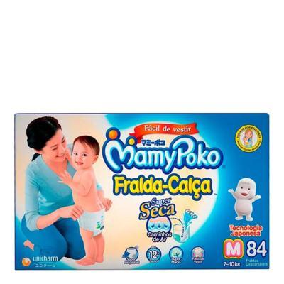 Fralda Calça Mamypoko Super Seca - Tamanho M   Com 84 Unidades