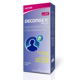 Decongex Plus - 12mg + 15mg | 12 comprimidos