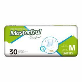 Fralda Geriátrica Masterfral Confort - Tamanho M   30 Unidades