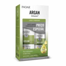 Kit Inoar Argan Infunsion Shampoo + Condicionador - Liso Sedoso | 2 unidades