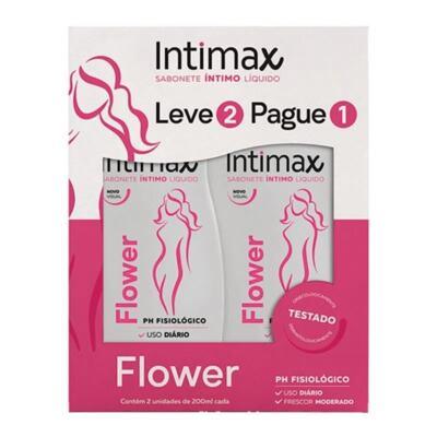 Sabonete Íntimo Líquido Intimax - Flower | 2 x 200ml | Leve 2 Pague 1