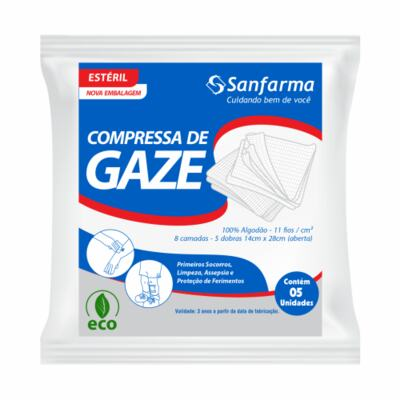 Compressa De Gaze Sanfarma - Estéril | 5 unidades