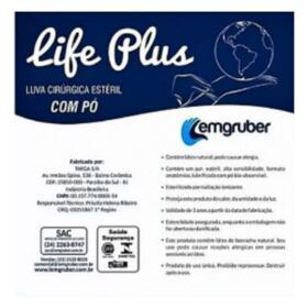 Luva Cirúrgica Estéril Life Plus Lemgruber - Tamanho 8.0   1 par
