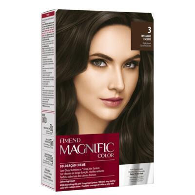 Coloração Creme Amend Magnific Color - 3 Castanho Escuro | 1 Kit