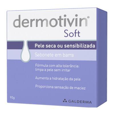 Sabonete Facial em Barra Dermotivin Soft - Pele Seca ou Sensível   90g
