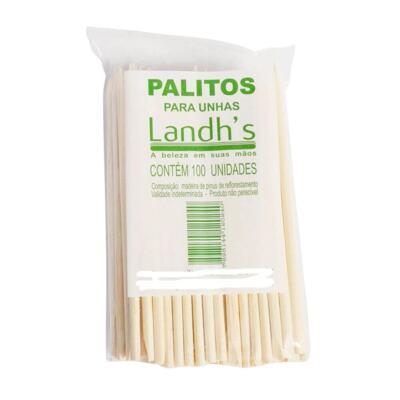 Palitos Para Unhas Landhs - 100 Unidades