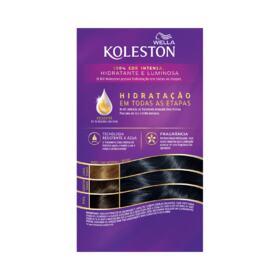 Tintura Creme Wella Koleston - 28 Preto Azulado   1 Kit