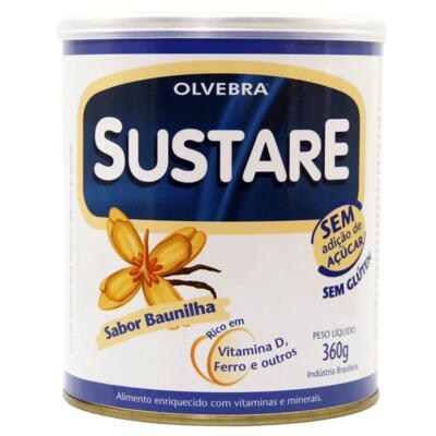 Sustare Olvebra - sabor Baunilha, sem açúcar   360g