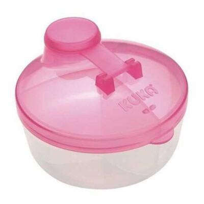 Kuka Baby Pote Para Leite Em Pó Com Divisória - Rosa   1 unidade