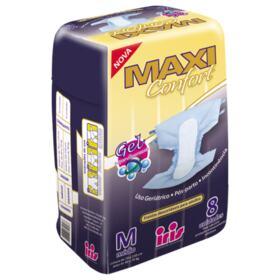 Fralda Geriátrica Maxi Confort - Tamanho M | 8 unidades