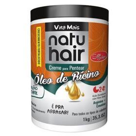 Natu Hair Creme De Pentear - Óleo De Rícino   1kg