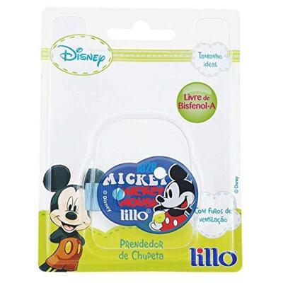 Lillo Prendedor Chupeta Mickey - Azul