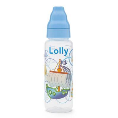 Mamadeira Lolly Baby Tip Bico de Silicone - Azul | 240ml