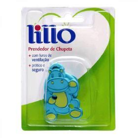 Prendedor de Chupeta Lillo Azul - Hipopótamo   1 Unidade