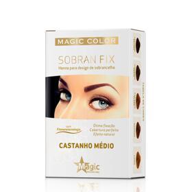 Henna Sobran Fix Magic Color - Castanho Médio | 1 Unidade