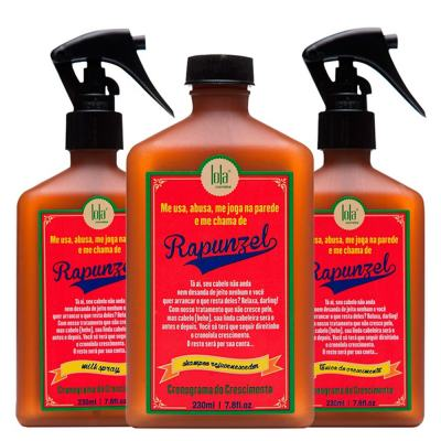 Kit Shampoo + Tratamento Antiqueda + Leave-in Lola Cosmetics Rapunzel - Kit