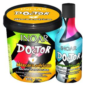 Kit Shampoo Multifuncional + Máscara de Nutrição Inoar Doctor - Kit