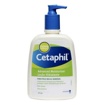Imagem 2 do produto Kit Cetaphil Loção Hidratante Advanced Moisturizer Pump 473ml + Protetor Solar Daylong Lipossomal Sensitive FPS 50 150ml