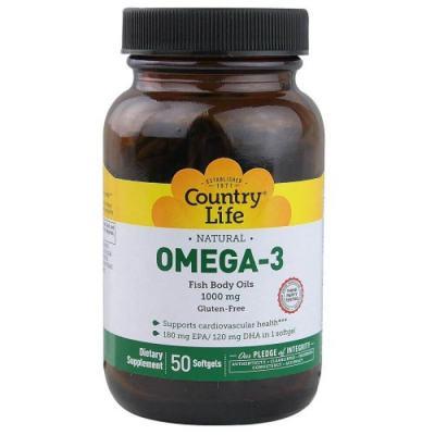 Omega 3 1000Mg 50 Softgels - Country Life