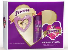 Kit Love Forever Love de Agatha Ruiz de La Prada Eau de Toilette Feminino - 80 ml + Shower Gel 100 ml kit
