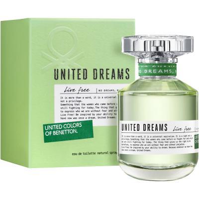 United Dreams Live Free by Benetton Feminino Eau de Toilette - 80 ml