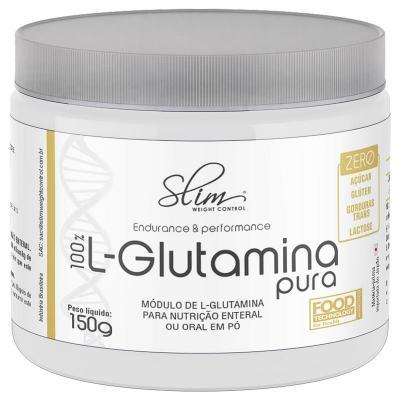 100% L-GLUTAMINA PURA 150G SLIM - BAUNILHA -