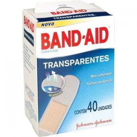 Curativo Band Aid Transparente 40 unidades