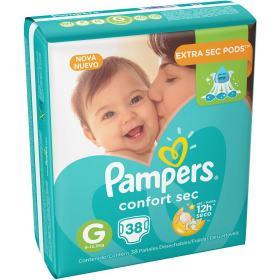 Fralda Pampers Confort Sec Mega G 38 unidades