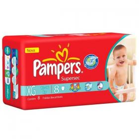 Fralda Pampers Supersec XG 8 unidades
