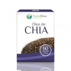 Óleo de chia - 500 mg - 60 cápsulas - Nutreflora -