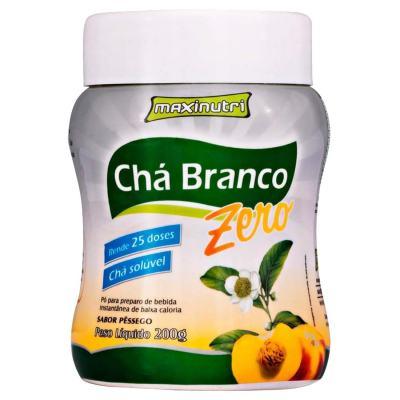 Chá Branco Solúvel Zero 200g Pêssego - Maxinutri - 200g